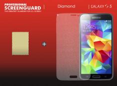 KIT avec 1 film protecteur effet Diamant  + 1 chiffon - Samsung Galaxy S5