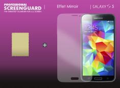 KIT avec 1 film protecteur effet Miroir  + 1 chiffon - Samsung Galaxy S5