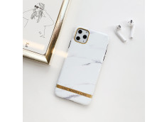 Coque iPhone 12/12 Pro Silicone Marble White