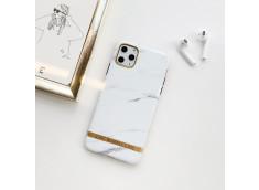 Coque iPhone 12 Pro Max Silicone Marble White