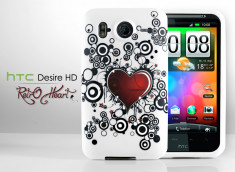 "Coque HTC Desire HD ""Grunge Heart"""