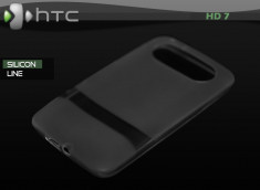 "Coque HTC HD7 ""Silicon Line"" Noir"