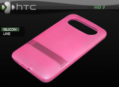 "Coque HTC HD7 ""Silicon Line"" Rose"