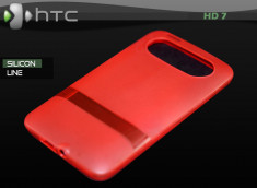 "Coque HTC HD7 ""Silicon Line"" Rouge"