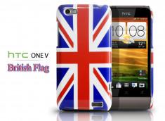 Coque HTC One V British Flag