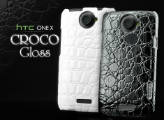 Coque HTC One X Croco Gloss