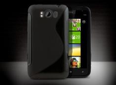 Coque HTC Titan Silicone Grip Noir