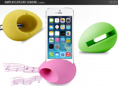 Amplificateur Sonore iEgg pour iPhone 5/5S et iPhone 4/4S