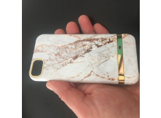 Coque iPhone X/XS White Gold Marble