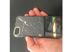 Coque iPhone X/XS Black Gold Marble