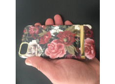 Coque iPhone 7/8/SE 2020 Gold Flowers