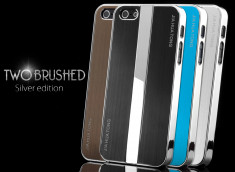 Coque iPhone 5 Two Brushed Silver Edition