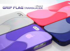 Coque iPhone 5 Grip flag translucide