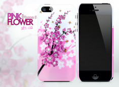 Coque iPhone 5/5S Pink Flower Strass