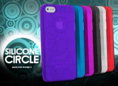 Coque iPhone 5 Silicone Circles