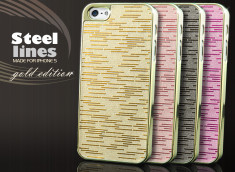 Coque iPhone 5 Steel Lines Gold Edition