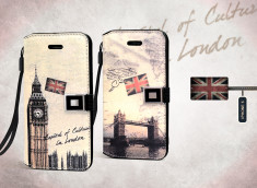 Etui iPhone 5 Grunge Capitale -London