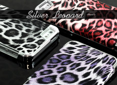 Coque iPhone 5 Silver Leopard