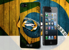 Coque iPhone 5/5S Lips Coupe du Monde 2014-Brazil