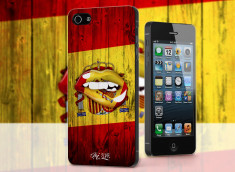 Coque iPhone 5/5S Lips Coupe du Monde 2014-Espana