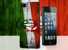 Coque iPhone 5/5S Lips Coupe du Monde 2014-Italia