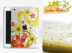 Coque iPad Mini Clear Golden Flowers