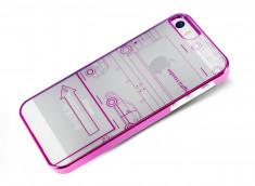 Coque iPhone 5/5S Apple Traffic Rose