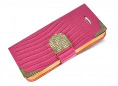 Etui HTC One M9 Luxury Croco-Rose