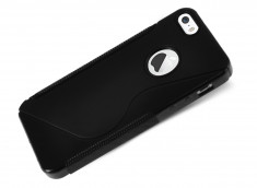 Coque iPhone 5/5S Silicone Grip-Noir