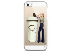 Coque iPhone 5/5s/SE But first coffee