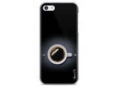 Coque iPhone 5/5s/SE Coffee metal design