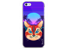 Coque iPhone 5/5s/SE Gradient cat design