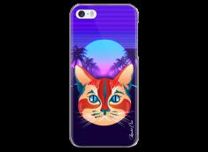 Coque iPhone 5C Gradient cat design