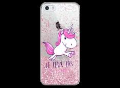 Coque iPhone 5/5s/SE Pink glitter J'ai Licorne