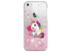 Coque iPhone 5/5s/SE Pink glitter Sweet Baby Licorne