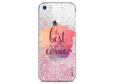 Coque iPhone 5/5s/SE Pink glitter The best is yet to come