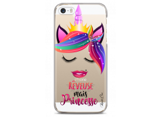 Coque iPhone 5C Rêveuse mais Princesse
