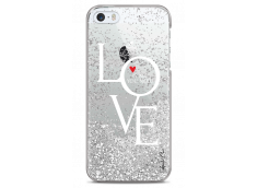 Coque iPhone 5/5s/SE Silver glitter Love is all you need