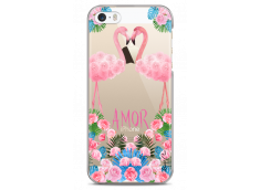 Coque iPhone 5/5s/SE Summer flamingo amor