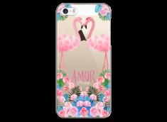 Coque iPhone 5C Summer flamingo amor