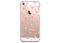 Coque iPhone 5/5s/SE Summer flamingo pattern