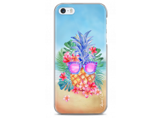 Coque iPhone 5C Summer watercolor ananas