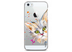 Coque iPhone 5/5s/SE Summer watercolor cat