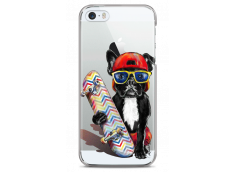 Coque iPhone 5C  Summer watercolor french buldog