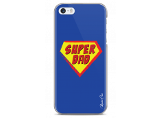 Coque iPhone 5C Super Dad - blue design