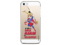 Coque iPhone 5/5s/SE Super Maman qui déchire- watercolor design