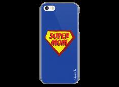 Coque iPhone 5C Super Mom - blue design