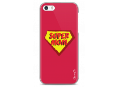 Coque iPhone 5C Super Mom - red design