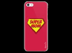 Coque iPhone 5C Super Mom - red design