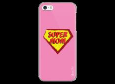 Coque iPhone 5C Super Mom - pink design